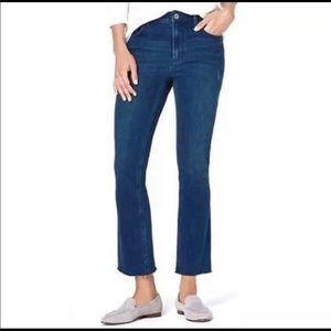 J. Jill Denim Kick Flare Ankle Jeans Size 14 NWT